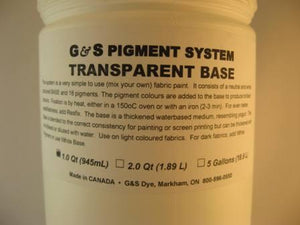 G&S dyes transparent base. 945 ml. jar