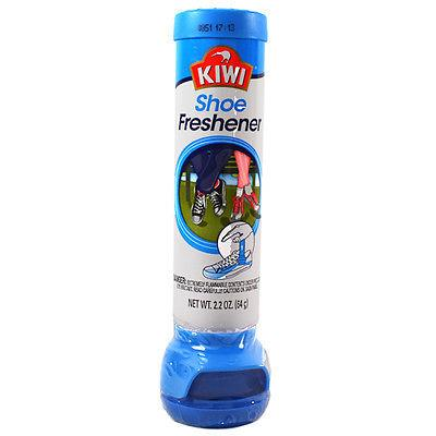 Kiwi shoe freshener, in-shoe dual-directional spray. 64g cannister.