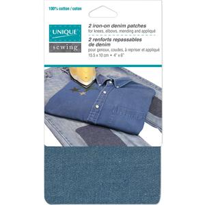 Unique, Iron-On Denim Patch, 2 pack