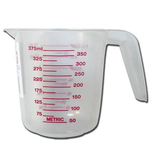 Al-De-Chef measuring cup, 1-1/2 cup, (375 ml), capacity.