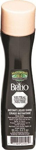 M&B instsnt shoe shine liquid. 90 ml/3.2fl oz. Neutral.
