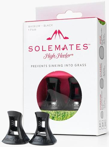 SoleMates high heeler. 1 pair. Narrow. Black.