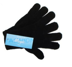 Magic gloves. 1 pair, O/S, Black, Kids.