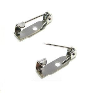 WOT findings, barpins, 13 mm. Silver. 12 pack.