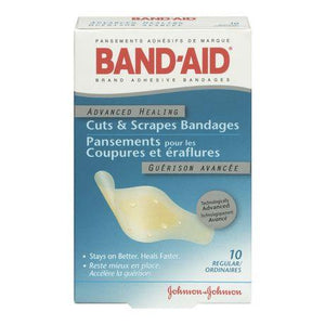 10 pack, Band-Aid, advanced cuts & scrapes bandages. Large
