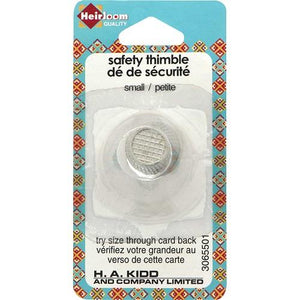 Heirloom, 1 piece, Small Metal safety Thimble.