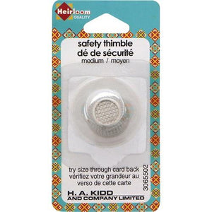 Heirloom, 1 piece, Medium Metal safety Thimble.