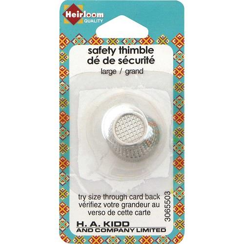 Heirloom, 1 piece, Large metal safety Thimble.