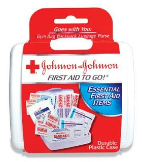 Johnson & Johnson, 12 piece, Mini First Aid Kit.