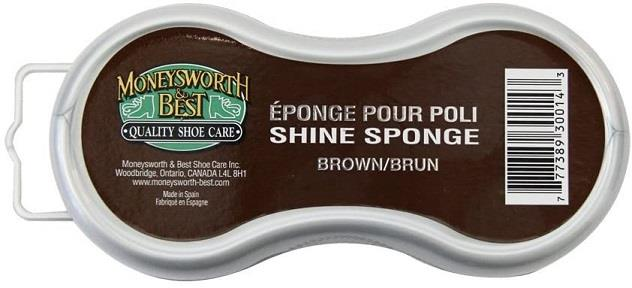Moneysworth and Best Shoe Shine Sponge - Brown