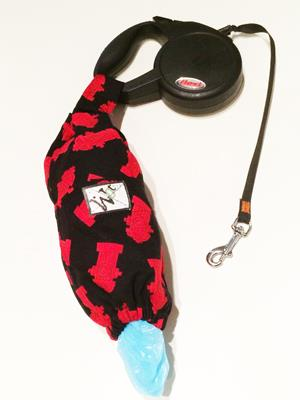 Dog Bag Dispenser, Holds Dog Waste/Poop Bags, Velcro Tab Hangs from Belt,, Assorted Colours and Patterns - Custom Made