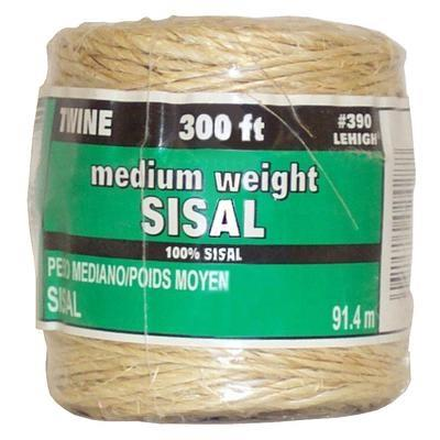 Lehigh, Sisal, 300 ft / 91.4 m, medium weight twine.