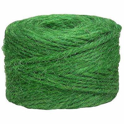 Lehigh, Jute roll, heavy duty, green, garden twine. 115 ft, (35.1 m).