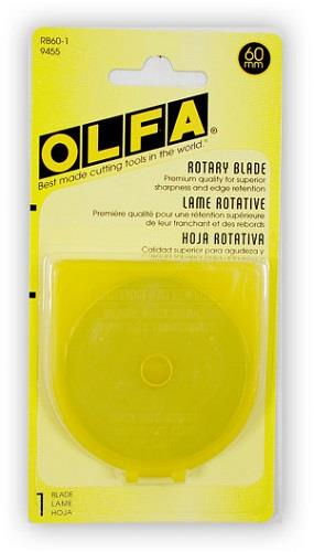 Olfa, 1 pack, 60 mm rotary blade refill.