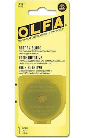 Olfa, 1 pack, 45 mm rotary blade refill.