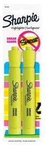 Sharpie Yellow Highlighters - 2 Pack