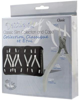 "Dazzle-it, 5 piece beading kit, ""classic slim collection"" pliers, w/case."