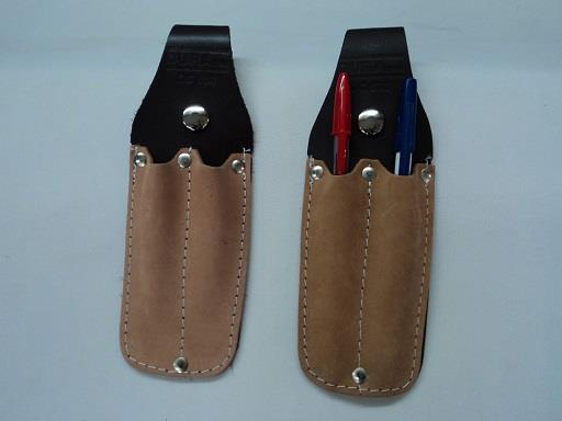 Leather pencil pouch.