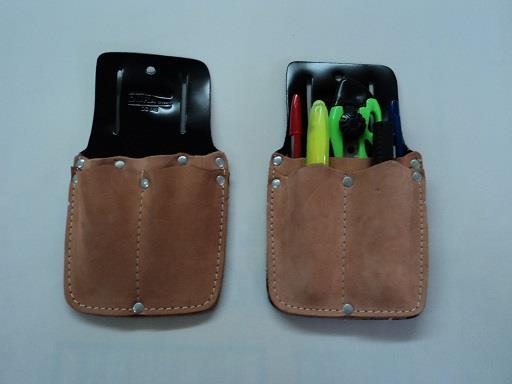 Leather belt pouch. For pens/scissors.