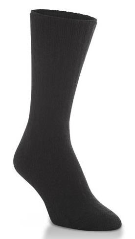 3 pair pack, black crew sports socks. Men's