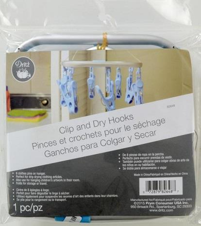 Dritz, clip and dry hooks.