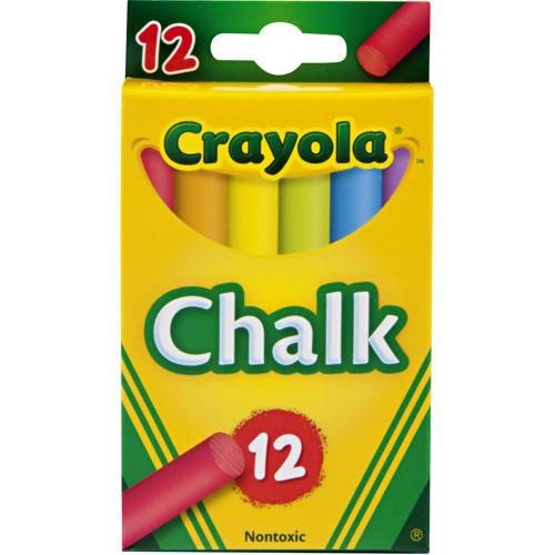 Crayola, 12 piece assorted coloured chalk.