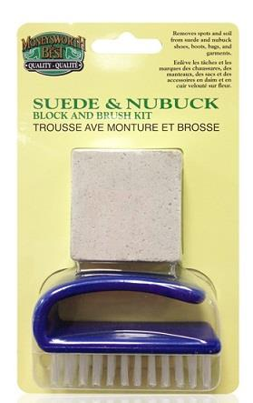 M&B, Suede & Nubuck Cleaning Block and Brush set.