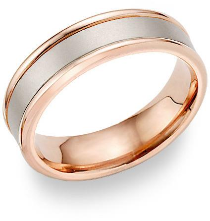 N/N Ring, Wedding Band. 2-tone metal.