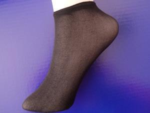 Footsox, Disposable Nylon Sockettes, Black
