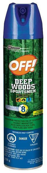 230g spray Deep Woods aerosol spray can.
