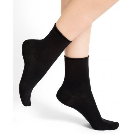 Bleuforet Roll-Top Ankle Socks in Black