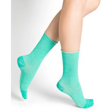 Bleuforet Cotton Roll-Top Socks in Mint