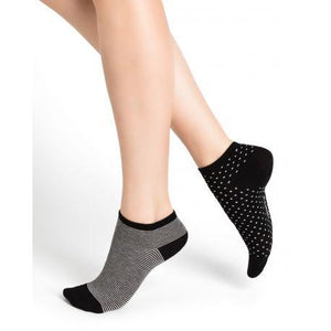 Bleuforet Stripes and Dots Patterned Ankle Socks