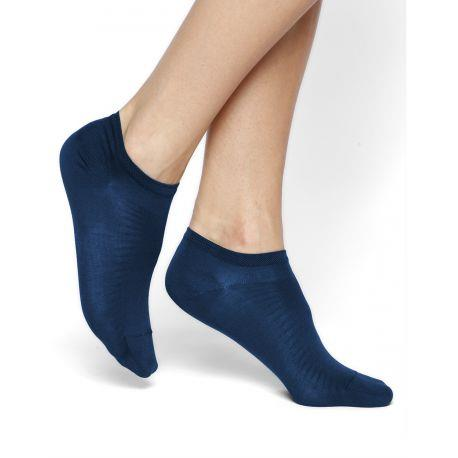 Bleuforet Mercerized Cotton Ankle Socks in Admiral