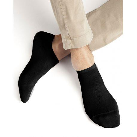 Bleuforet Men's Egyptian Cotton Ankle Socks in Black