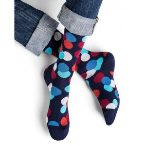 Bleuforet Men's Circle Pattern Cotton Socks