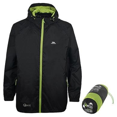 Trespass Qikpac Waterproof Jacket in Black
