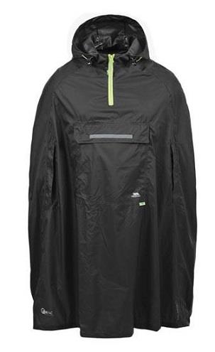 Trespass Qikpac Poncho in Black