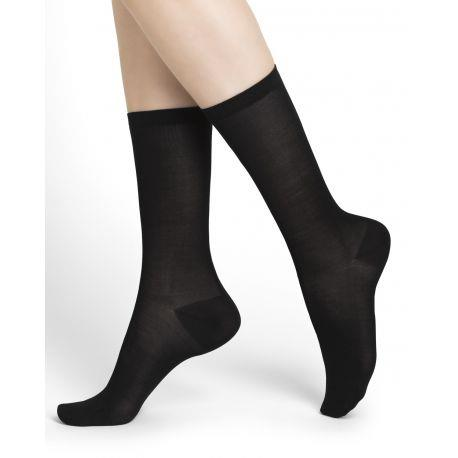Bleuforet Women's Silk Blend Socks in Black