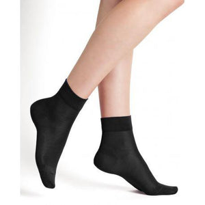 Bleuforet Silk Ankle Socks in Black
