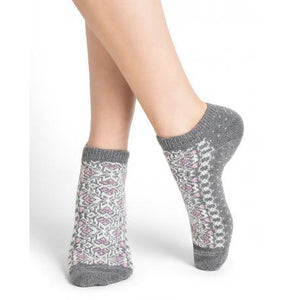 Bleuforet Cashmere Blend Mini Socks in Flannel Grey