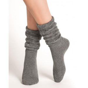 Bleuforet Alpaca Blend Slouch Socks in Flannel Grey