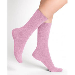 Bleuforet Women's Cashmere Socks in Light Pink