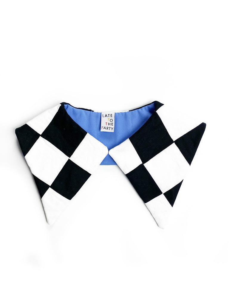 Black Checker Detachable Collar - Late to the Party