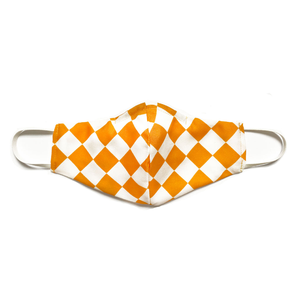 """Creamsicle Check"" Fabric Mask - Late to the Party"