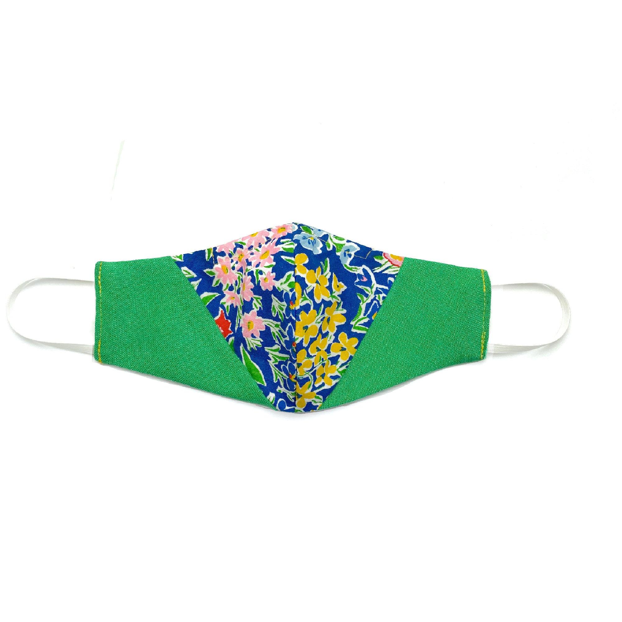 """Green Jasmine"" Patchwork Mask - Late to the Party"