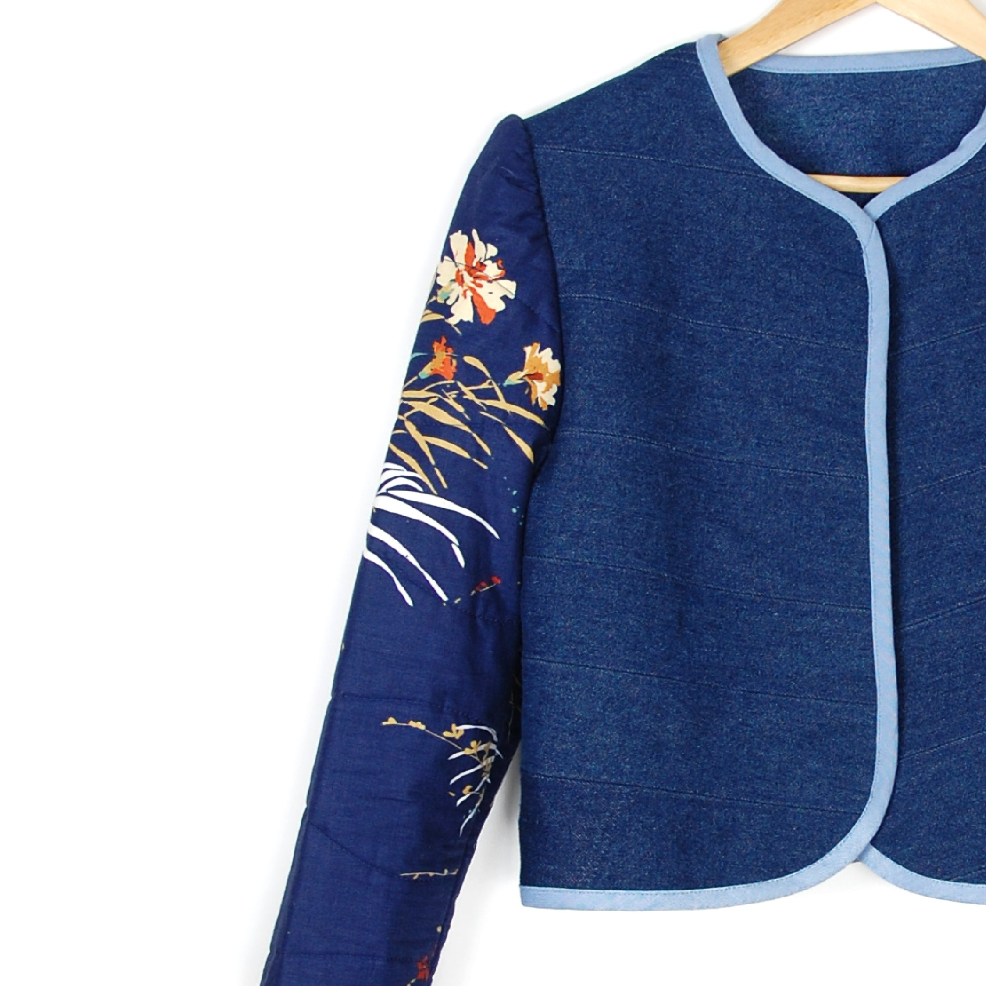 THE DARK CARNATION QUILTED JACKET - Late to the Party