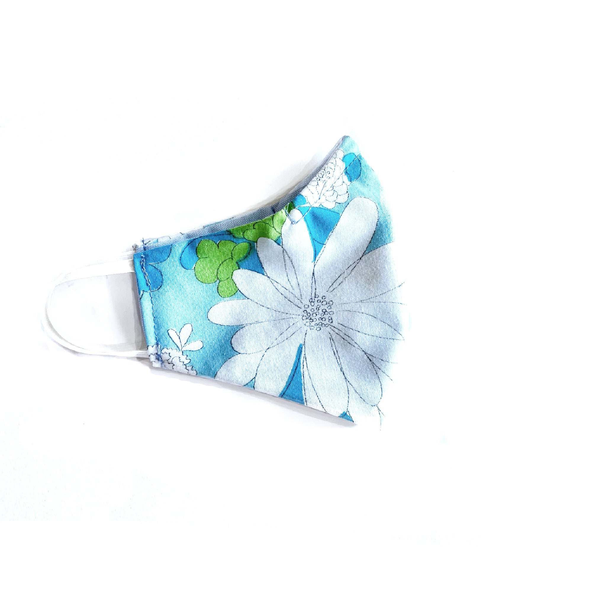 """Lazy Daisies"" Fabric Mask - Late to the Party"