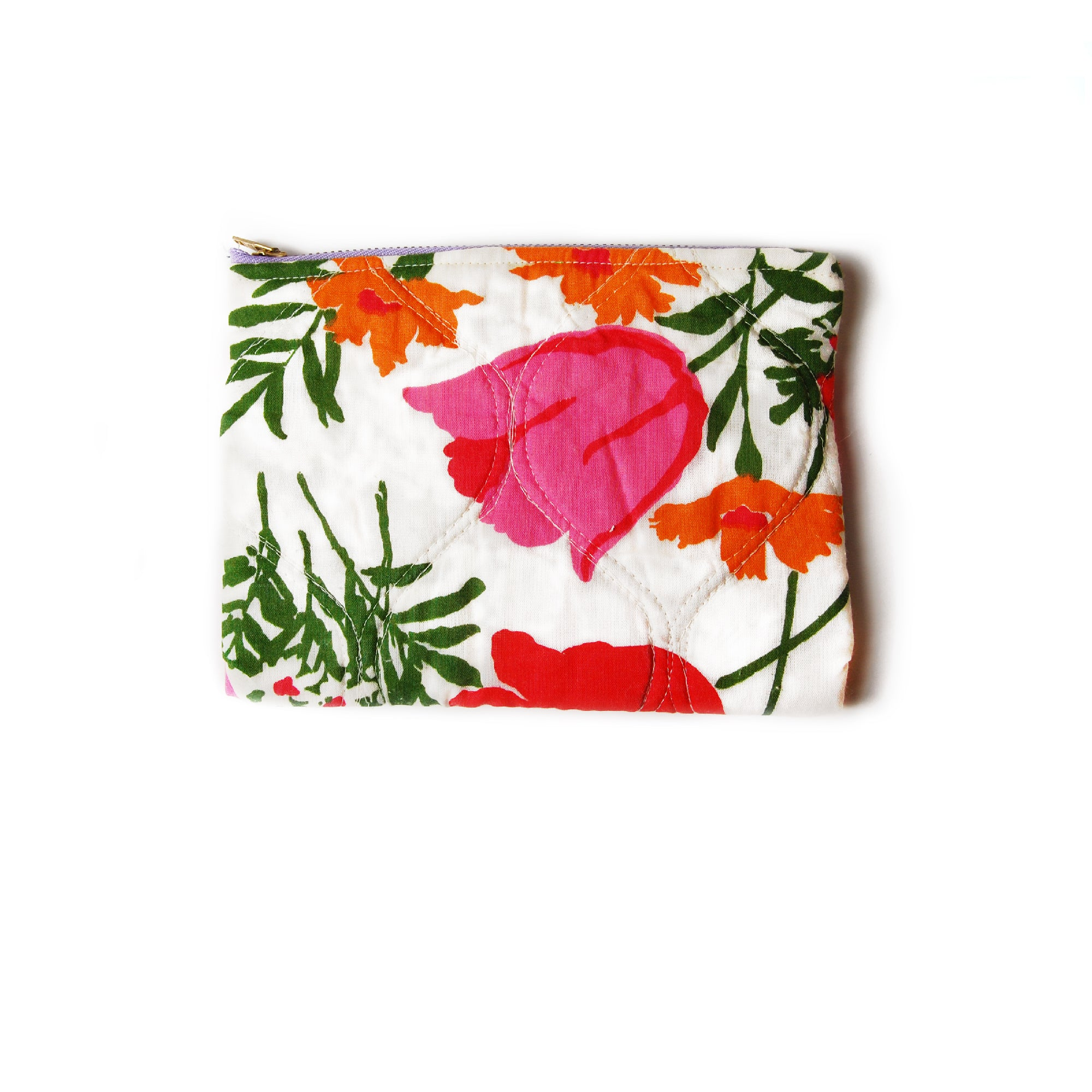"""Late Bloomer"" Quilted  Pouch - Late to the Party"