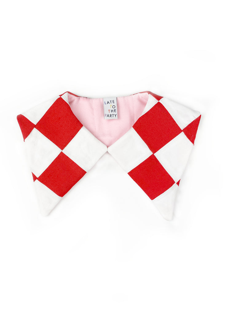 Red Checker Detachable Collar - Late to the Party